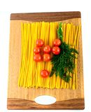 Pasta , tomatoes and dill Stock Image