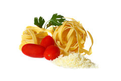 Pasta and tomatoes Royalty Free Stock Photo