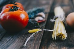 Pasta And Tomatoes Royalty Free Stock Image