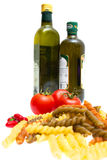 Pasta, tomatoes, peppers, olive oil Stock Image