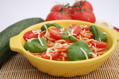 Pasta with tomatoes Stock Image