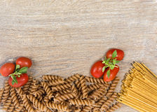 Pasta with tomatos Stock Photography