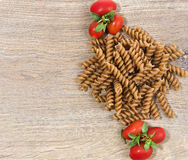 Pasta with tomatos Royalty Free Stock Images
