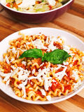 Pasta with tomatos and cheese Royalty Free Stock Photos