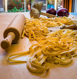 Pasta tool and Ingradient Royalty Free Stock Photography