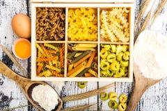 Pasta and tortellini Stock Photos