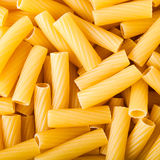Pasta tortiglioni. Texture of italian pasta tortiglioni Stock Photos