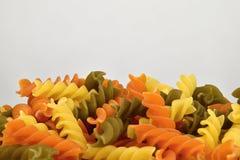 Pasta a tre colori, dettaglio Fotografia Stock Libera da Diritti