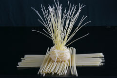 Pasta Tree. Dry pasta arranged in the formation of a tree Royalty Free Stock Photography