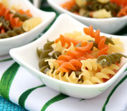 Pasta tricolore. Some italian pasta tricolore in a bowl Stock Image