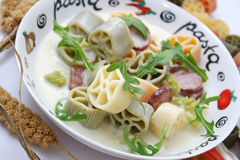 Pasta tricolore Stock Photos