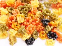 Pasta tricolore. Some colourful pasta in a bowl Stock Photos