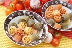 Pasta tricolore Royalty Free Stock Photo