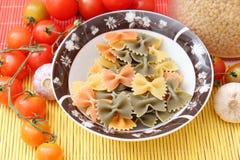 Pasta tricolore Stock Photo