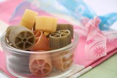 Pasta tricolore. Some colourful pasta in a bowl Stock Photo