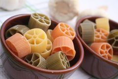Pasta tricolore Royalty Free Stock Photography