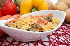 Pasta tricolore Stock Image