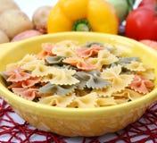 Pasta tricolore. Some colourful italian pasta in a bowl Stock Photography