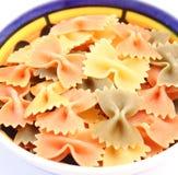 Pasta tricolore. Some colourful italian pasta in a bowl Stock Photo