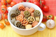 Pasta tricolore. Some fresh italian pasta tricolore Royalty Free Stock Images