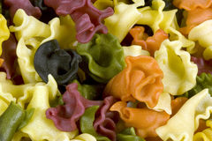 Pasta - Trombette multi color Stock Photo