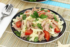 Pasta with tuna Stock Images