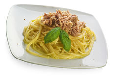 Pasta and tuna Royalty Free Stock Photography