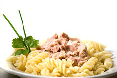 Pasta with tuna Royalty Free Stock Image