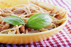 Pasta with tuna Royalty Free Stock Images