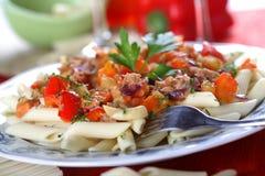 Pasta with tuna fish Stock Photo