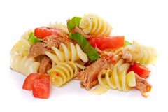 Pasta with tuna meat Royalty Free Stock Images