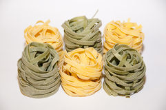Pasta. Type of pasta nests with the addition of seaweed Stock Photo