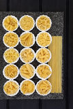 Pasta Types Royalty Free Stock Photography