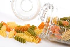 Pasta in un vaso di vetro Fotografie Stock Libere da Diritti
