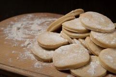 Pasta in una forma circolare Fotografia Stock
