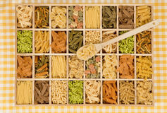 Pasta variation. Stock Photo