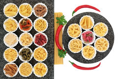 Pasta Varieties Stock Images