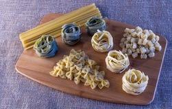 Pasta Variety Still Life Stock Image