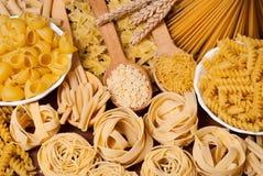 Pasta. Variety of types and shapes of Italian pasta Stock Photo