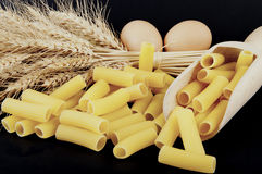 Pasta with various types of grain pile Stock Photos