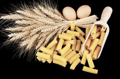 Pasta with various types of grain pile Royalty Free Stock Photos