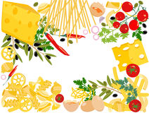 Pasta, vector royalty free illustration