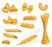 Pasta vector icons Stock Photography