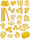 Pasta. Vector illustration of different types of pasta Stock Photography