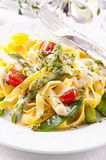 Pasta with vegetable Royalty Free Stock Images