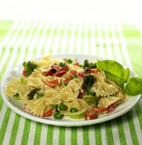 Pasta with vegetables Stock Photography