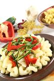 Pasta with vegetables Royalty Free Stock Photography
