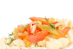 Pasta with vegetables Royalty Free Stock Photo