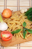 Pasta and vegetables Royalty Free Stock Photography