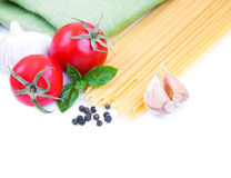 Pasta and Vegetables Royalty Free Stock Photos